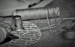 gray, thread, pins